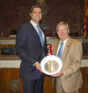 Representative Vince Leach Named Legislator of the Year by Arizona Restaurant Association